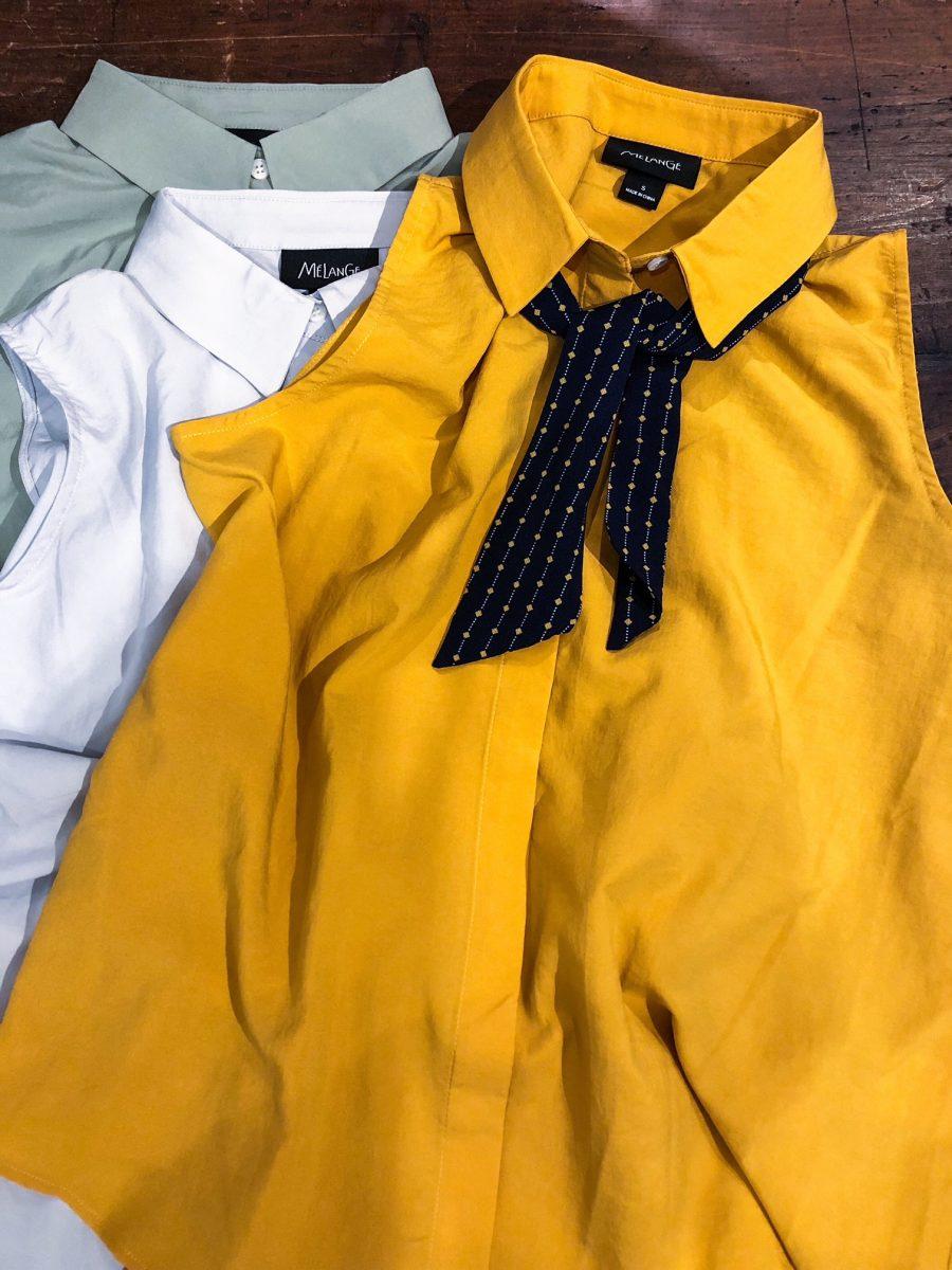 Plain sleeveless shirt