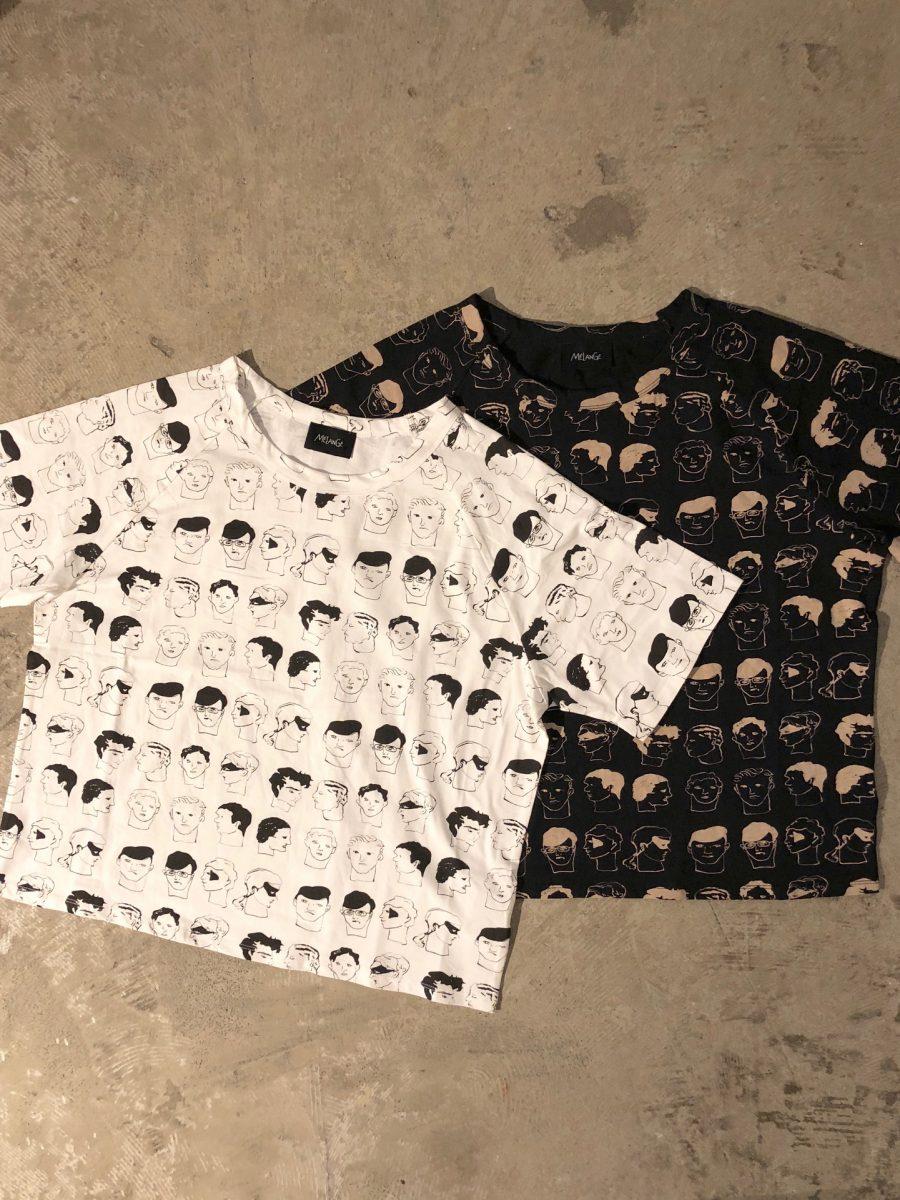 Male face pattern T-shirt