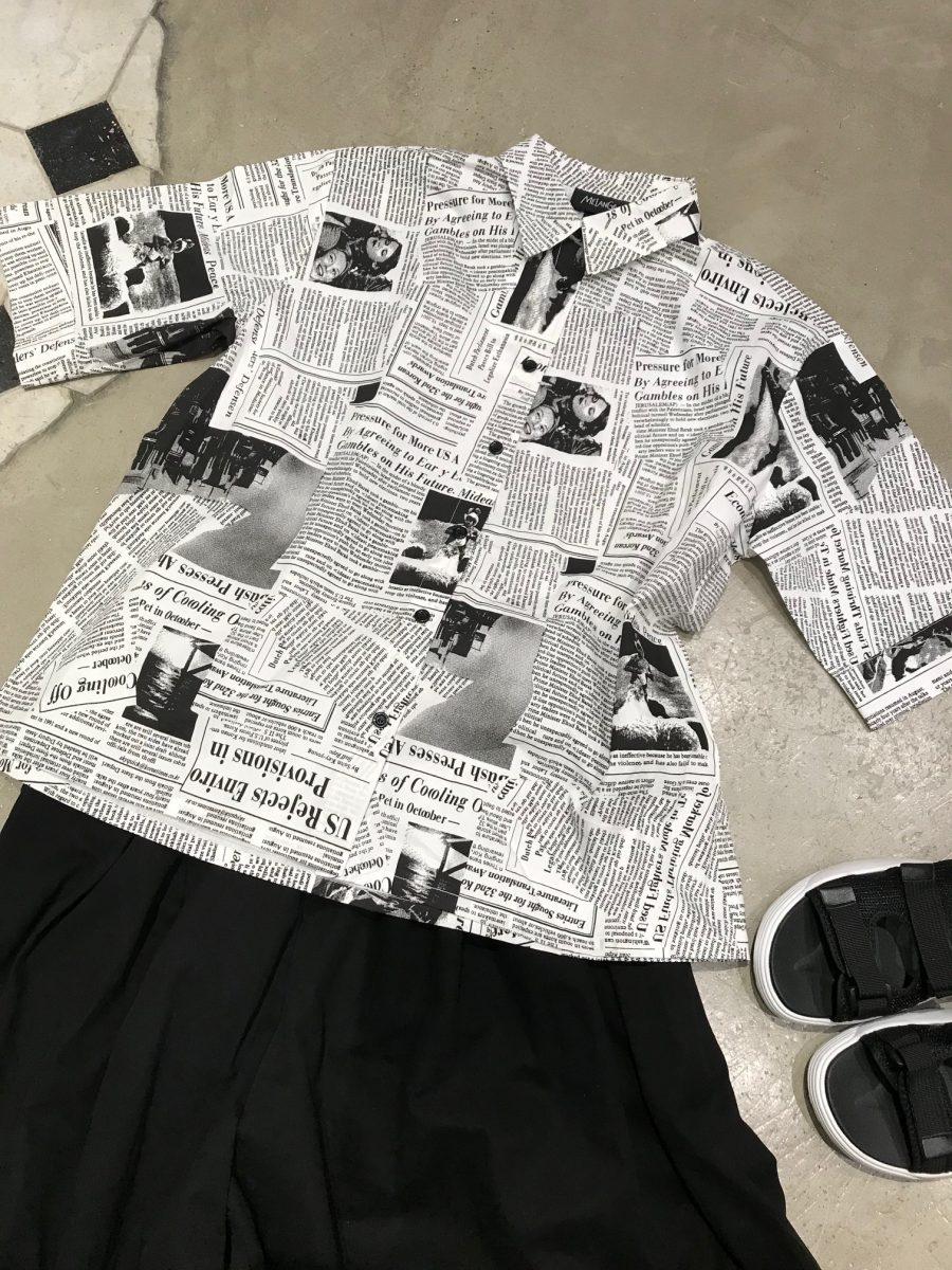 English letter shirt
