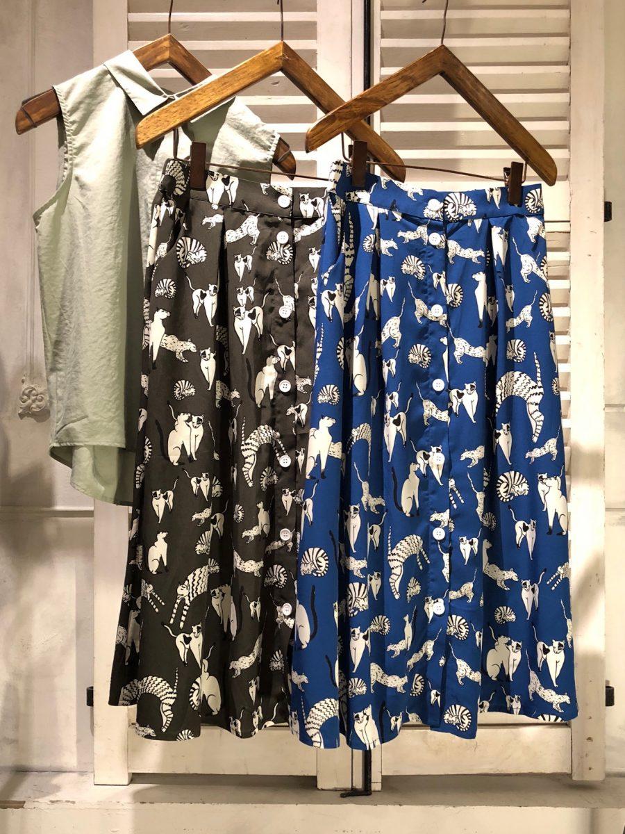 Cat pattern skirt
