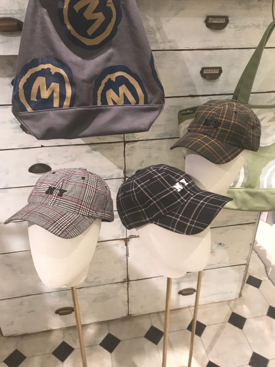 Glen check cap
