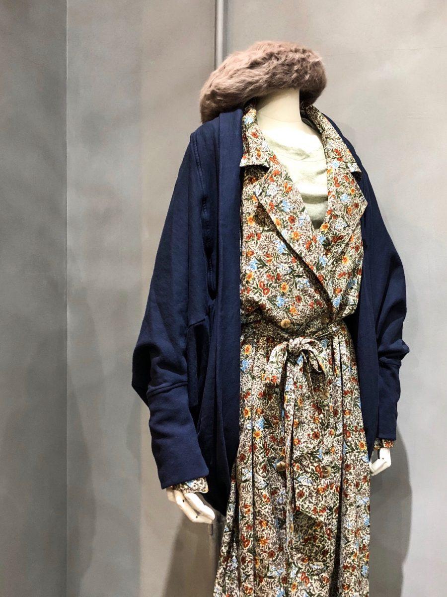 Flower pattern coat