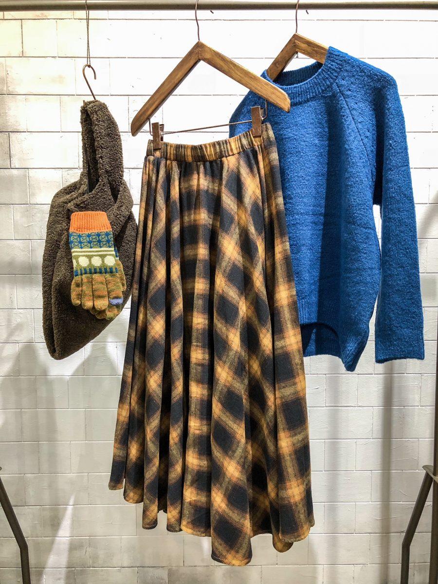 Check pattern skirt
