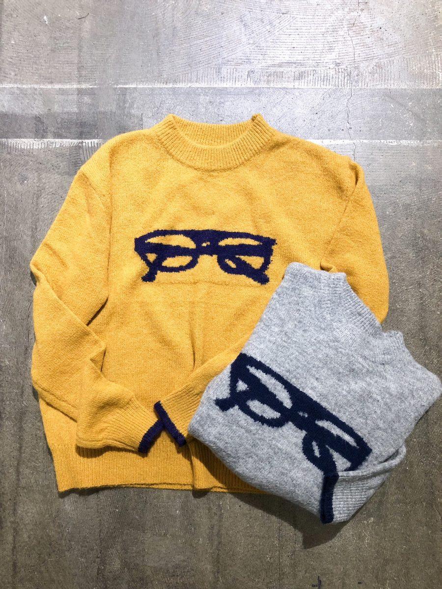 Eyewear pattern sweater