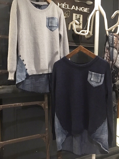 Knit x Denim-style T-cut
