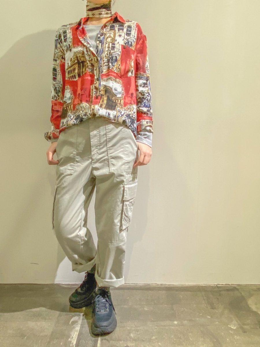 Landscape print blouse