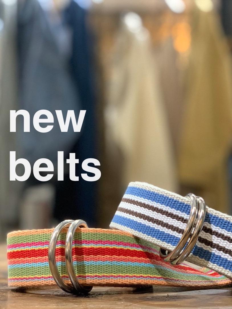Multi-stripe W-ring belt