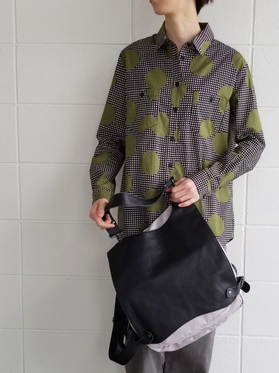 Leather covered rucksack