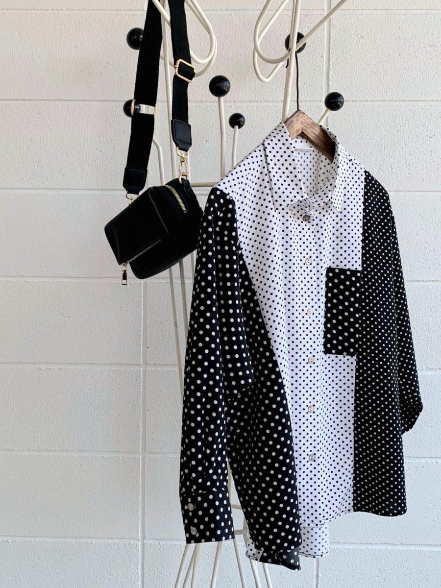 Dot mix blouse