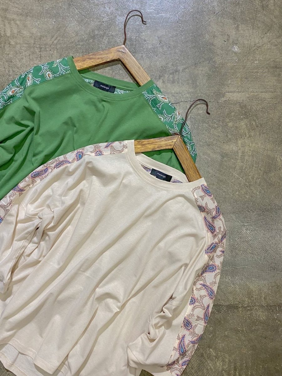 Paisley switching cut-and-sew