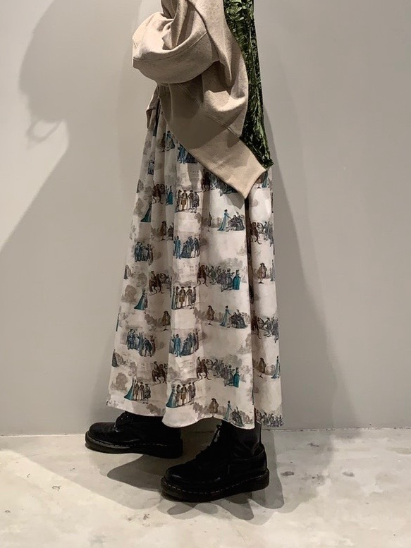 Aristocratic gathered skirt