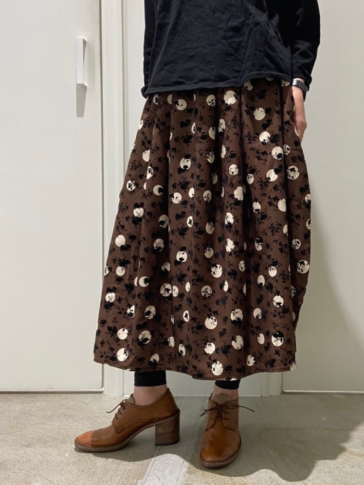Pattern balloon skirt