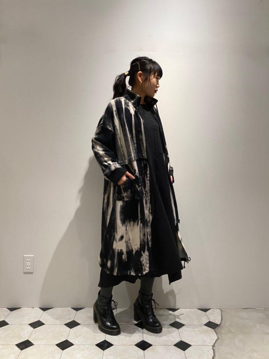 Tie dye pattern coat