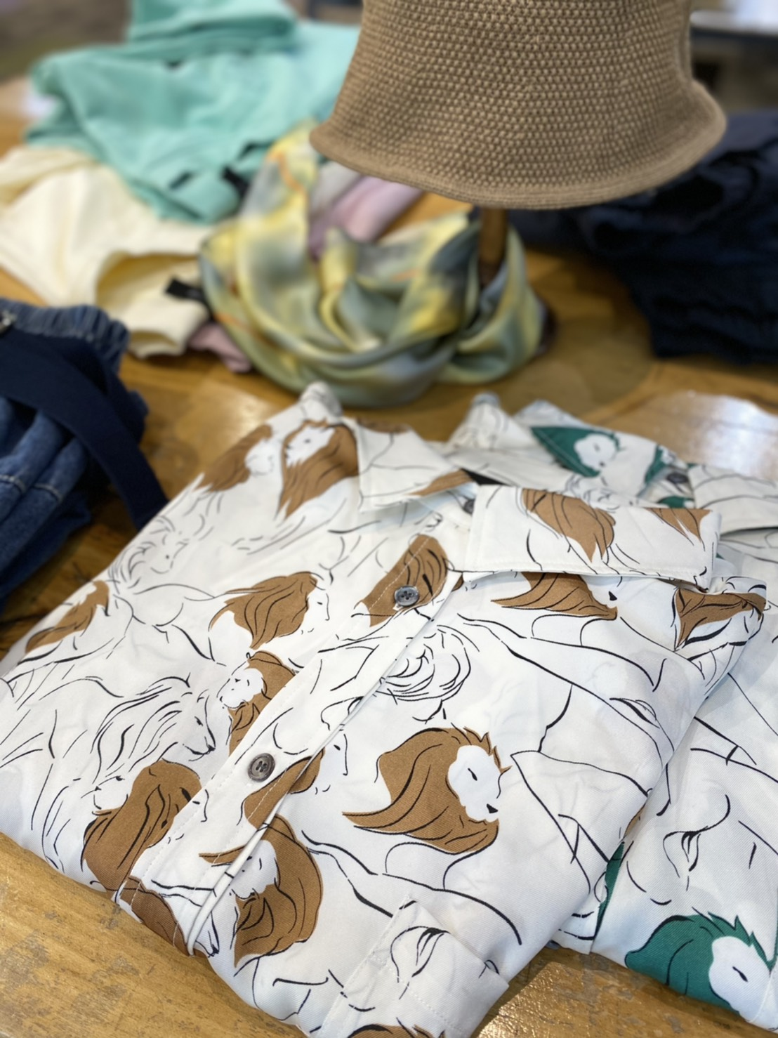 Lion print blouse